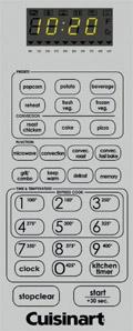 Cuisinart CMW-200 control panel