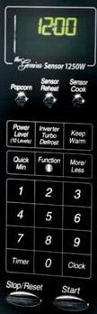 Panasonic NN-H965BF control panel