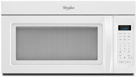 Whirlpool 1.7 Cubic Foot White OTR Microwave Oven