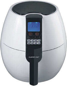 GoWISE USA 8-in-1. Electric Air Fryer Digital Programmable Cooking Settings (3.7 QT)