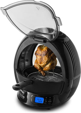 Gourmia GMF2600 Halogen Powered Vertical LED Display Multicooker with Accessories and Recipe Book