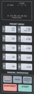 Panasonic NE-1054F control panel