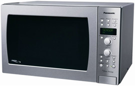 Panasonic Stainless Steel Convection Microwave with Inverter Technology
