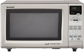 Sharp Stainless Steel Double Grill Countertop Microwave