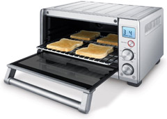 toaster oven with bread